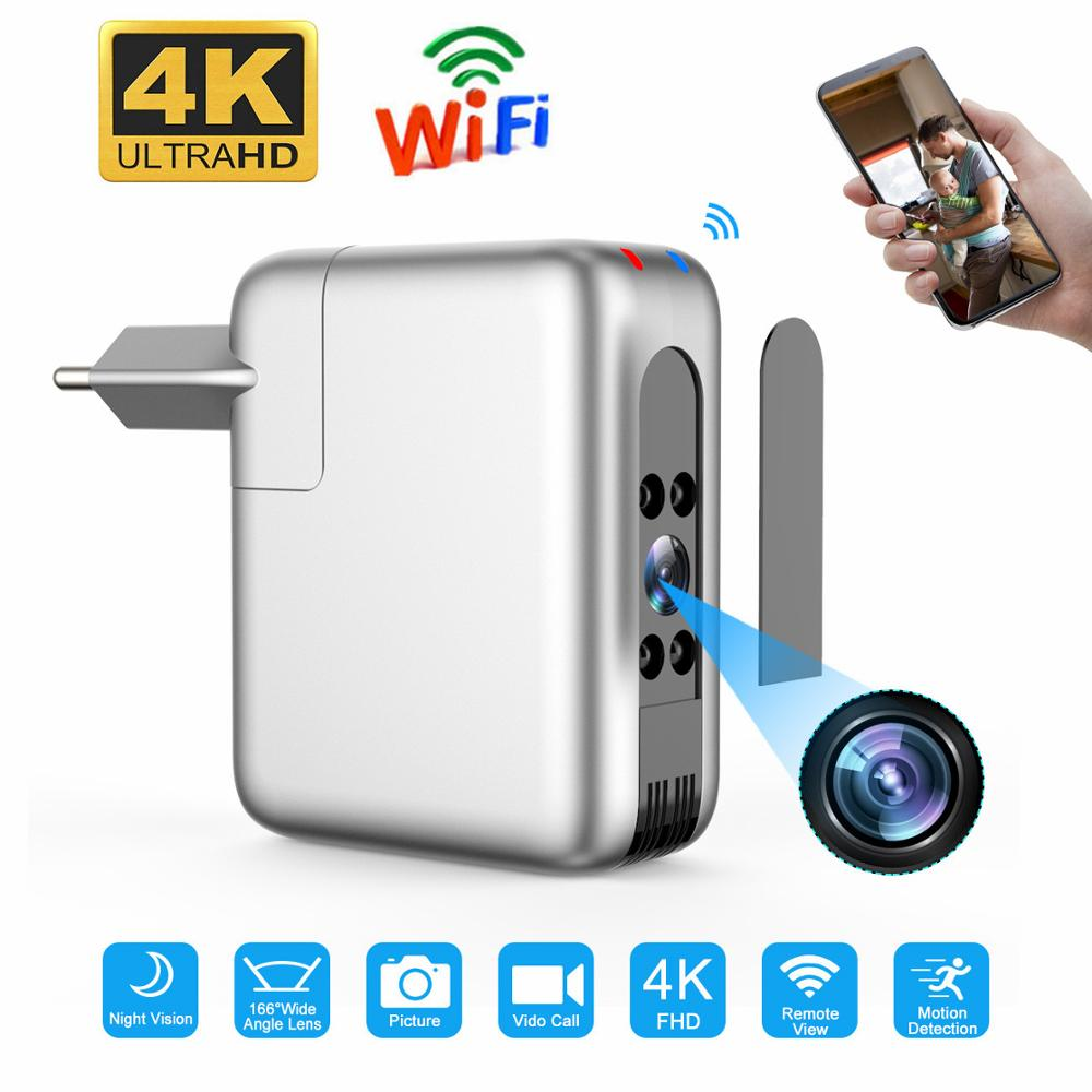 Wireless Wifi Mini Camera espia USB Charger micro camera 4K 1080P Cam Baby Camera Nights Vision Monitor Camcorder for Smart Home