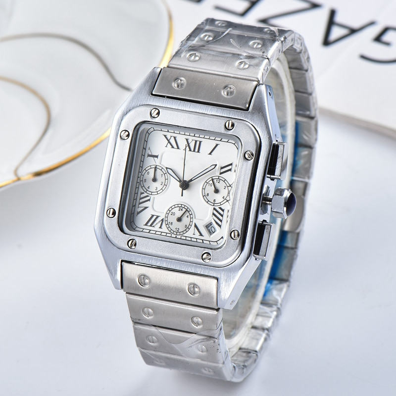 Luxury Top Brand Square Watch Men Classic Vintage Men Quartz Watch Stainless Steel Dial Luxury Clock Montre Homme enlarge