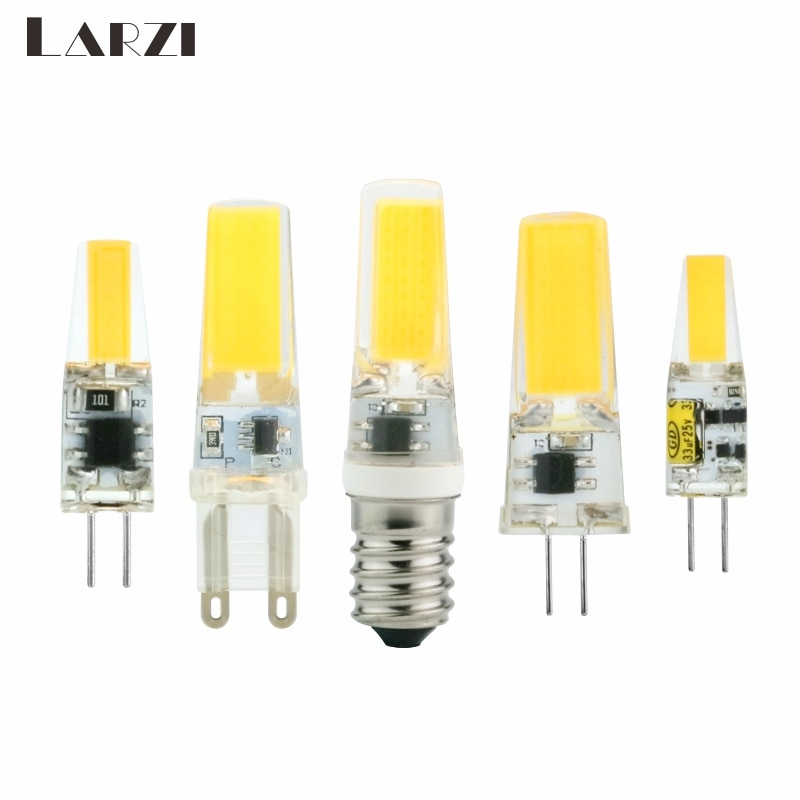 Bombilla LED G4 G9 E14, atenuación de CA/CC, 12V, 220V, 3W, 6W, 9W, COB SMD, luces de iluminación LED, sustituye a la lámpara halógena