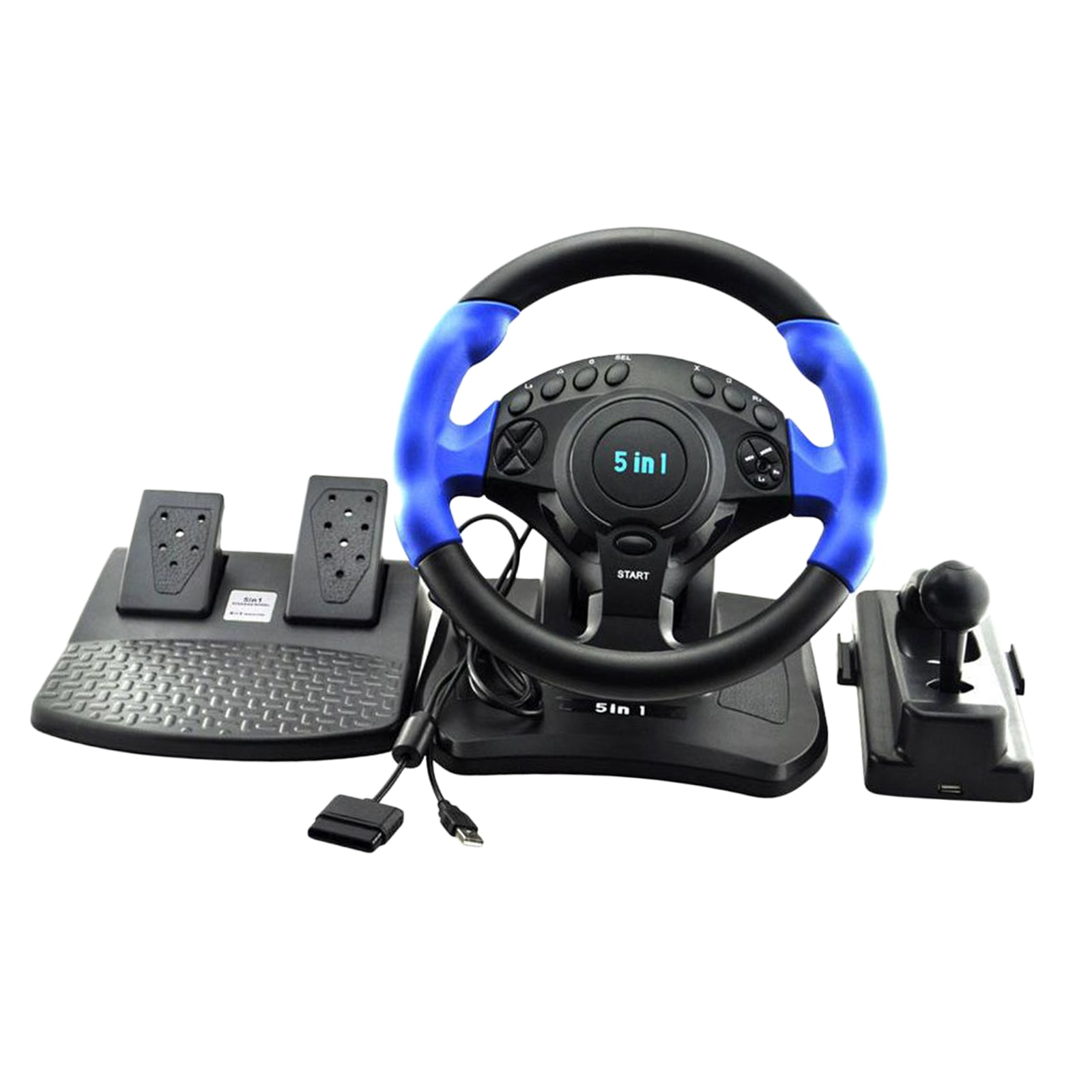 Car Racing Game Steering Wheel Pedals Kit Driving Simulator for PS4/PS3, for  360/ ONE for PC, 270 degree rotation