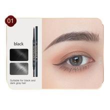 Eyebrow Pencil Natural Makeup Double Head Super Fine Eyebrow Pencil Waterproof Lasting Eyes Black Br