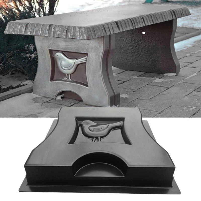 1 قطعة فيلا حديقة محاكاة حجر الطيور كرسي مقعد الساق قالب الاسمنت قالب خرسانة رصف البلاستيك