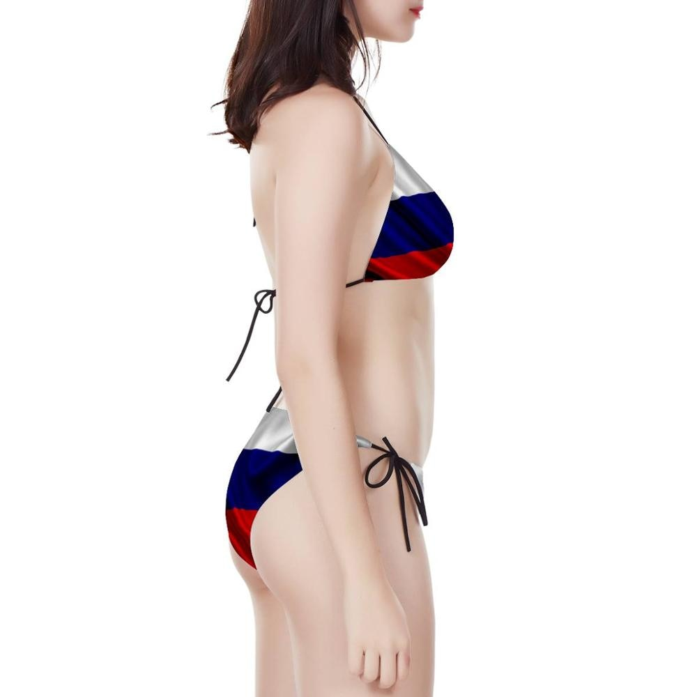 2020 personalizable mujer sexy verano traje de baño set de Sujetador bikini Belarús bandera lazo lateral cinturón playa triángulo bikini boho