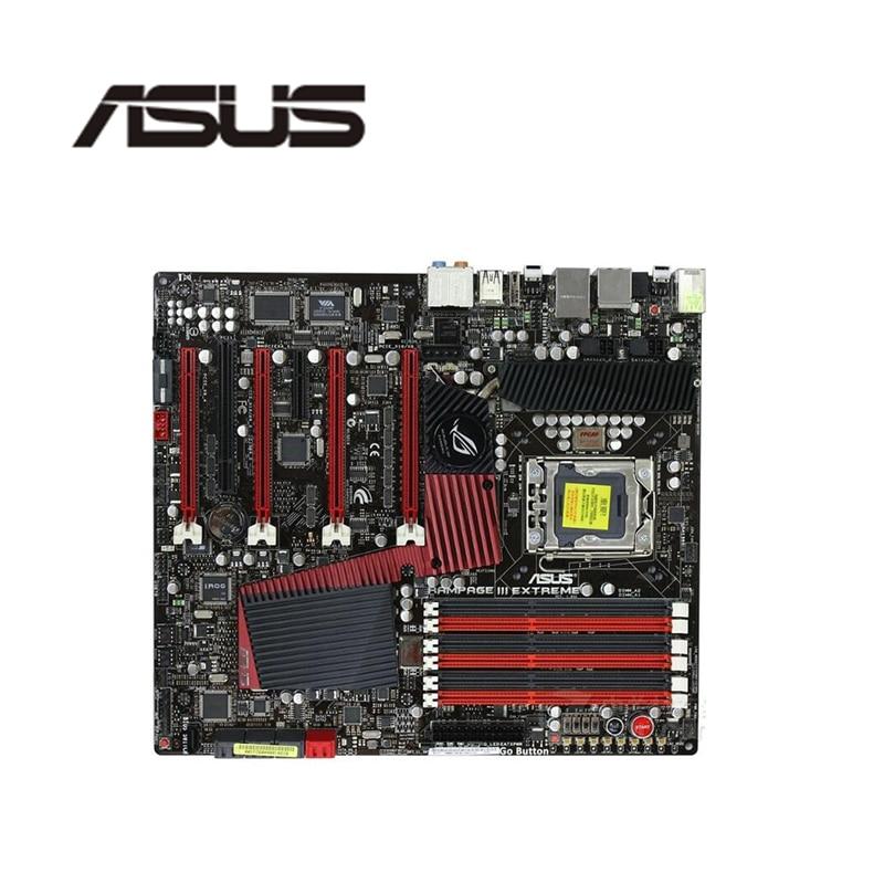 Para ASUS Rampage III extrema originales usados placa base Socket LGA 1366 DDR3 X58 X58M placa base de escritorio
