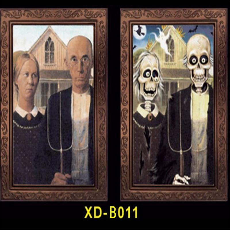 5 unid/lote Secret room escapes props hombre fantasma cara marco foto inclinación cara cambio casa embrujada Decoración Accesorios