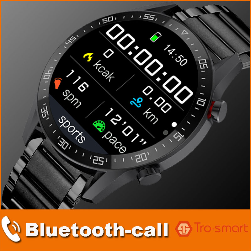 Dial Call Smart Watch Men Male Smartwatch Electronics Smart Clock For Android IOS Fitness Tracker Sm