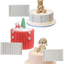Moule fondant Silicone Texture tricot   Pull en tissu, moule pour gâteaux, outils de décoration de gâteaux, moule à chocolat