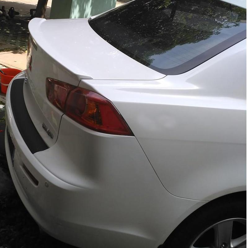 Para Mitsubishi Lancer Evo EX 2010 2011 2012 2013 2014 Plástico ABS Unpainted Primer Cor da Asa Traseira Tronco Spoiler
