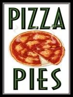 pizza pies retro metal signplaque wall vintage kitchen gift