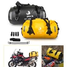 30L/40/80L PVC Moto rcycle kuyruk çantası seyahat kuru bagaj Moto rbike bisiklet saklama çantası sırt çantası Moto rcycle koltuk çanta sacoche moto