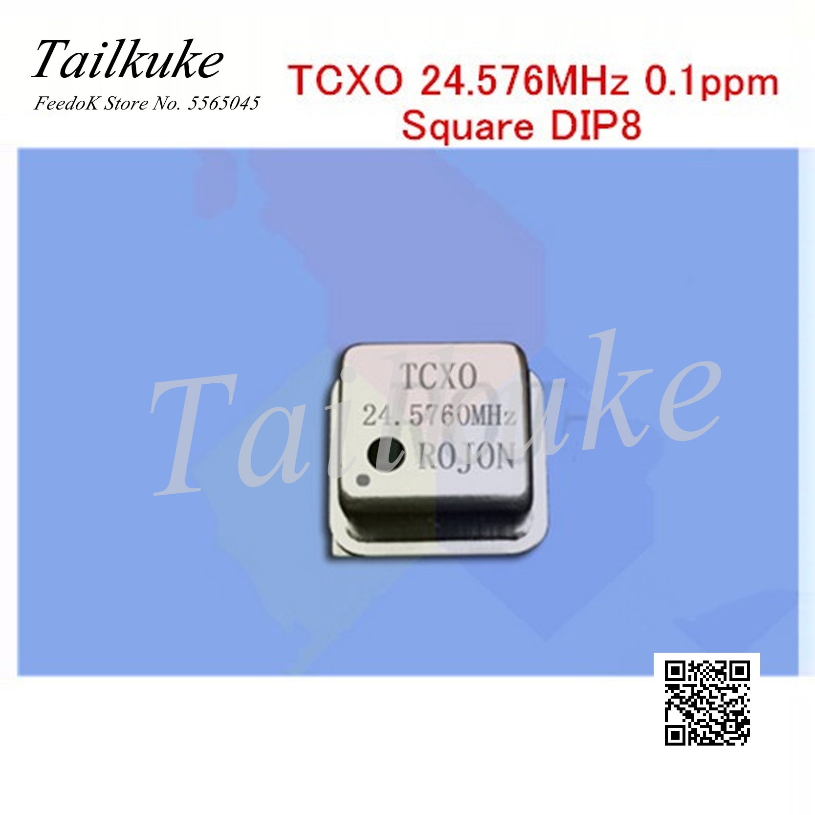 Sonido DIY Fihi, alta precisión, compensación de temperatura, oscilador de cristal TCXO 24.576MHz 0,1 ppm, Cuadrado DIP8