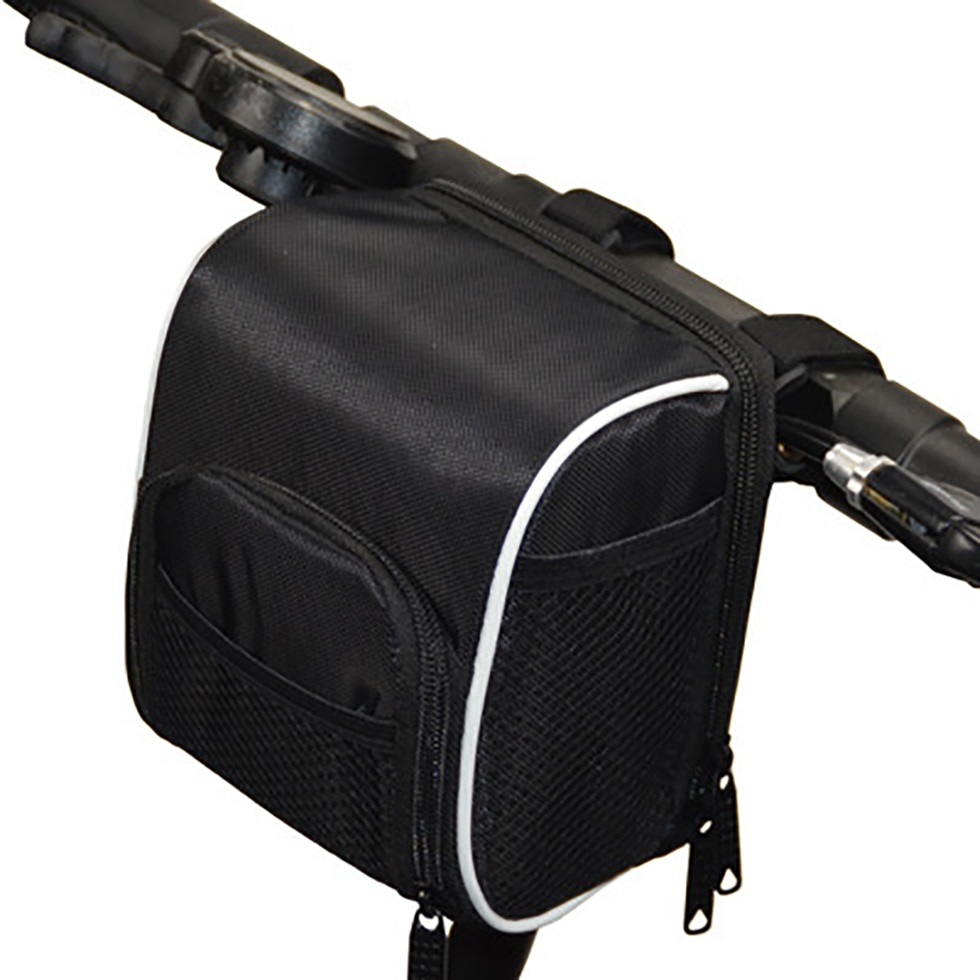 Bolsa de manillar de bicicleta, bolsa de manillar multifunción, bolsa de marco frontal, embalaje con cubierta de lluvia para Scooter Eléctrico