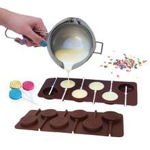 New Doughnut Lollipop Mold DIY Bakeware Silicone 3D Handmade Pop Sucker Sticks Lolly Candy Chocolate cake decoration Mold