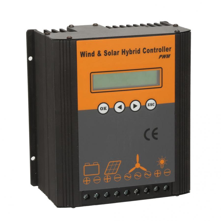 Controlador de carga Solar híbrido viento 48V controlador de carga PWM energía Solar 300W energía eólica 400 W/500 con 600W