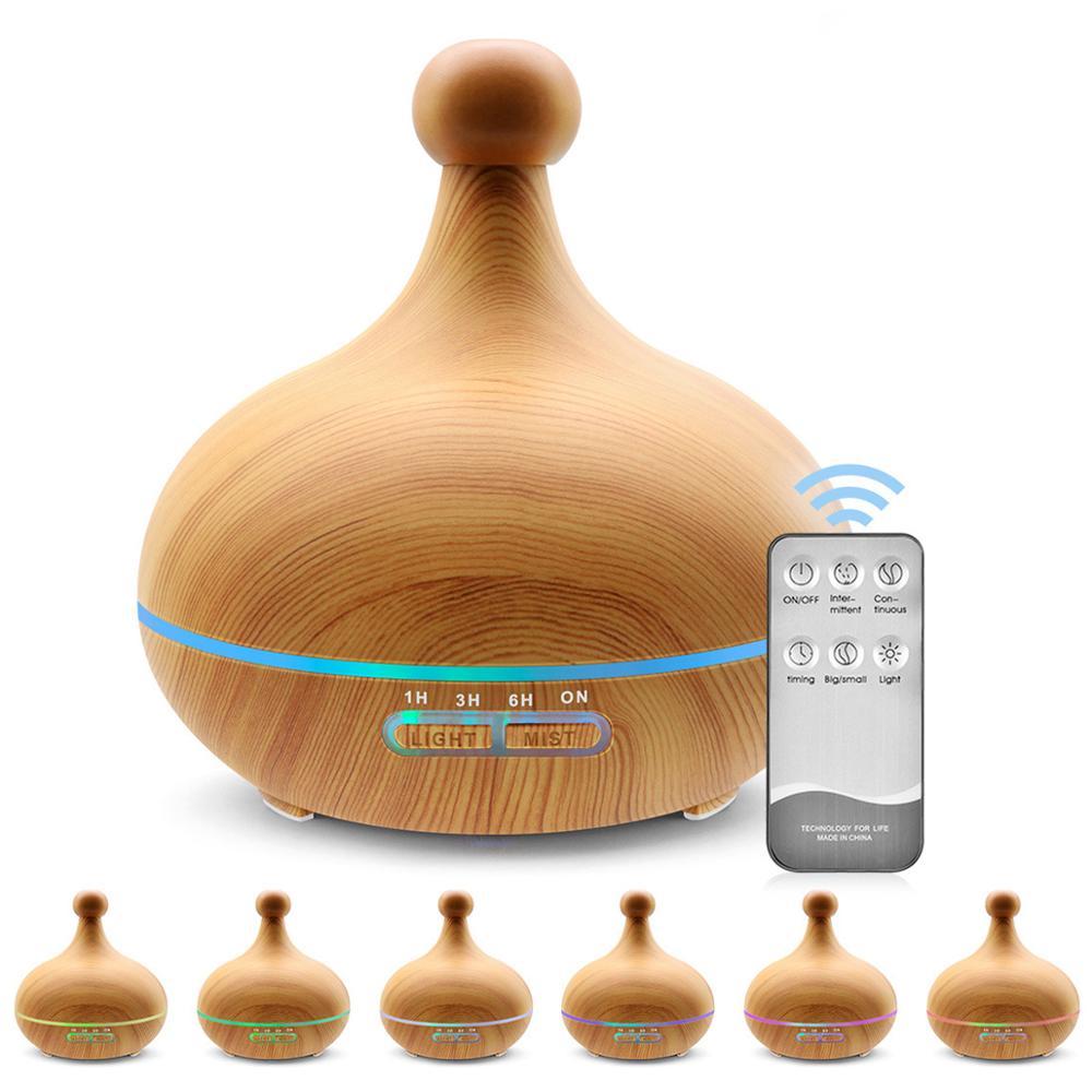 400 мл ультразвуковой увлажнитель воздуха Арома эфирные масла диффузор с деревянным зерном Электрический холодный туман чайник для дома дис...