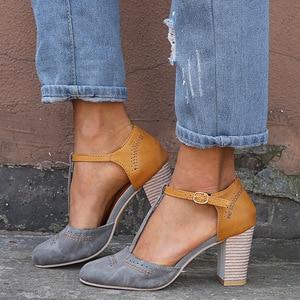 Women Sandals Platform Buckle Sandals High Heel Women Summer Shoes Square Sandals Gladiator Sandals Women Female