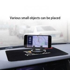 Car high temperature resistant silicone anti-skid pad Cadillac-logo car product dashboard pad mobile phone decoration storage pa