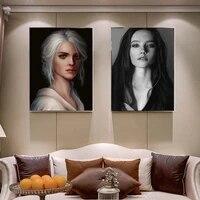 Nordique figure peinture a lhuile modele de mode retro portrait art toile peinture salon couloir bureau decoration murale