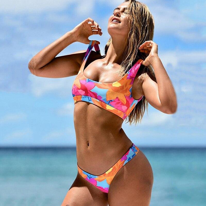 2019 Red de Europa y América Hongbo principal recomendación oferta Bikini moda Sexy impreso Bikini Atlético