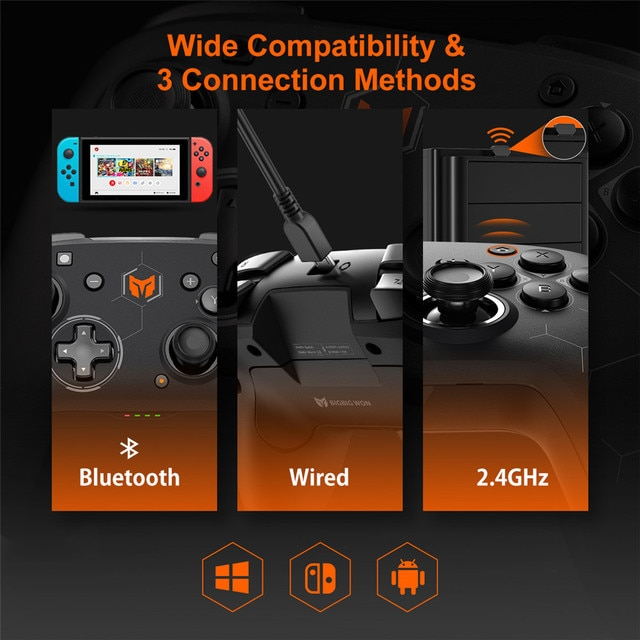 BIGBIG WON Elitist S Wireless Gamepad Controller Joystick for Nintendo Switch PC Android Game Console with 6-Axis Gyro Handle 4
