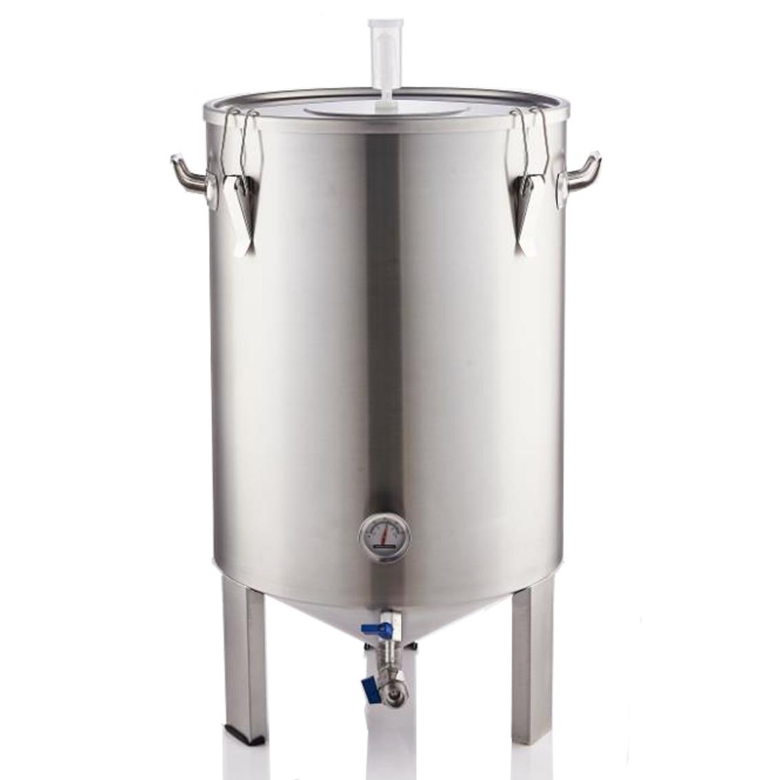 Fermentador de 50L, tanque de acero inoxidable, depósito de fermentación de vino