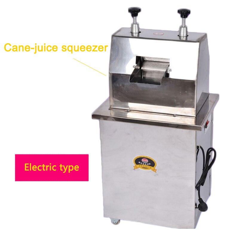300 KG/H exprimidor eléctrico de caña de azúcar de acero inoxidable comercial máquina de jugo de caña de azúcar exprimidor comercial 220V 370W