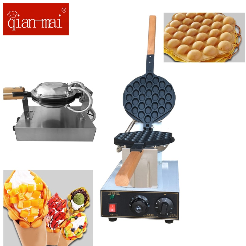 Commercial Electric Snack Food Egg Bubble Waffle Maker Stainless Steel  Eggettes Puff Cake Oven Iron Maker Machine  110V 220V недорого