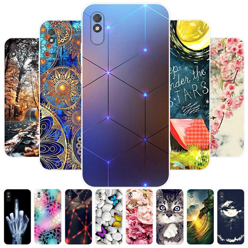 Para xiaomi redmi 9at caso 2020 nova moda macio tpu casos de telefone para xiaomi redmi 9at 9a 9 um silicone capa traseira fundas redmi9at