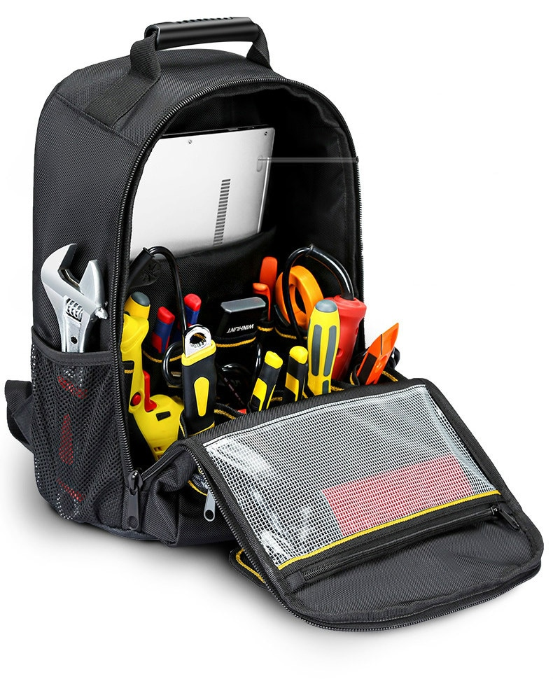 Electrician Backpack Tool Bag Repair Oxford Cloth Wrench Wear Resistant Canvas Tool Bag Case Elettricista Tools Packaging DG50TB