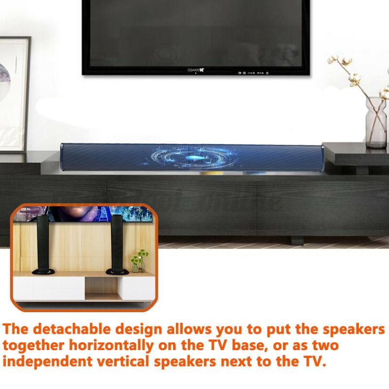 BEASTUN  PVC TV Sound Bar Speaker Home Theater Bluetooth Sound Bar Wireless Detachable Soundbar  stereo speakers  RoHS  FCC  CE enlarge