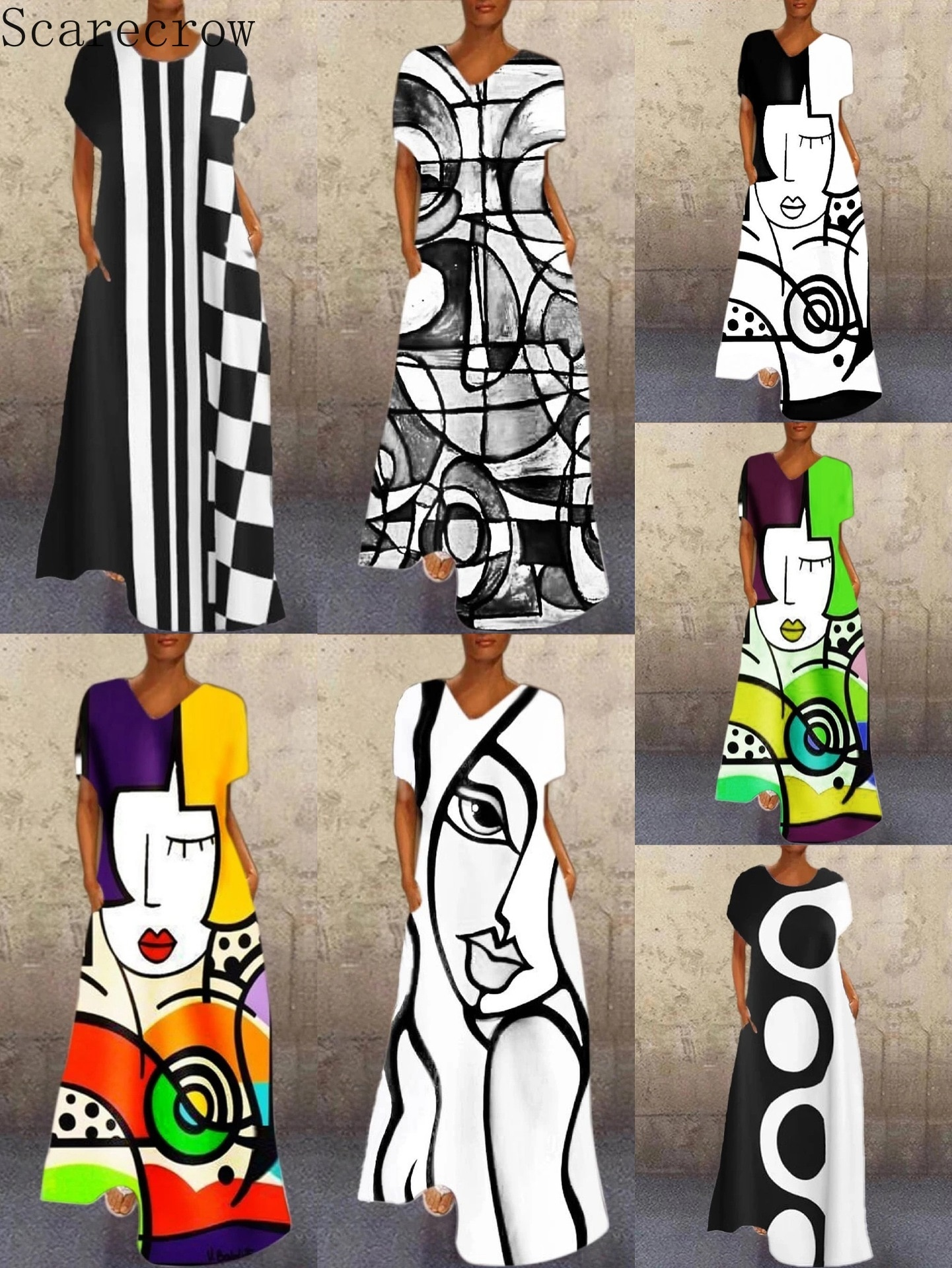 5XL Casual Lange Mouw Vrouwen suelto Jurk Vintage Dot dibujo de almazuela Lange Jurken Herfst mujeres V-hals Maxi Jurk Vestidos