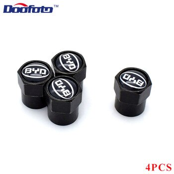 Doofoto 4x רכב Valve Caps גלגל בצור צמיגי גזע מגן כיסוי עבור BYD F3 F0 S6 F3R F0 F 3 אקססוריז רכב סטיילינג עבור כל רכב