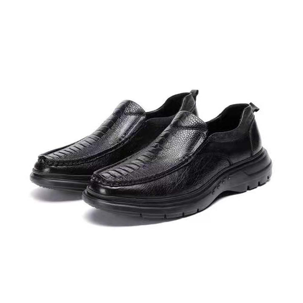 Ourui-حذاء جلد النعام للرجال ، وصل حديثًا