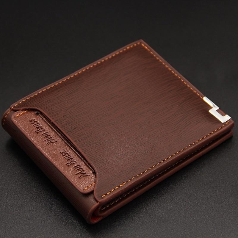 Винтажный Мужской кожаный брендовый Роскошный кошелек, короткие тонкие мужские кошельки, зажим для денег, кредитных карт, долларовая цена, ...
