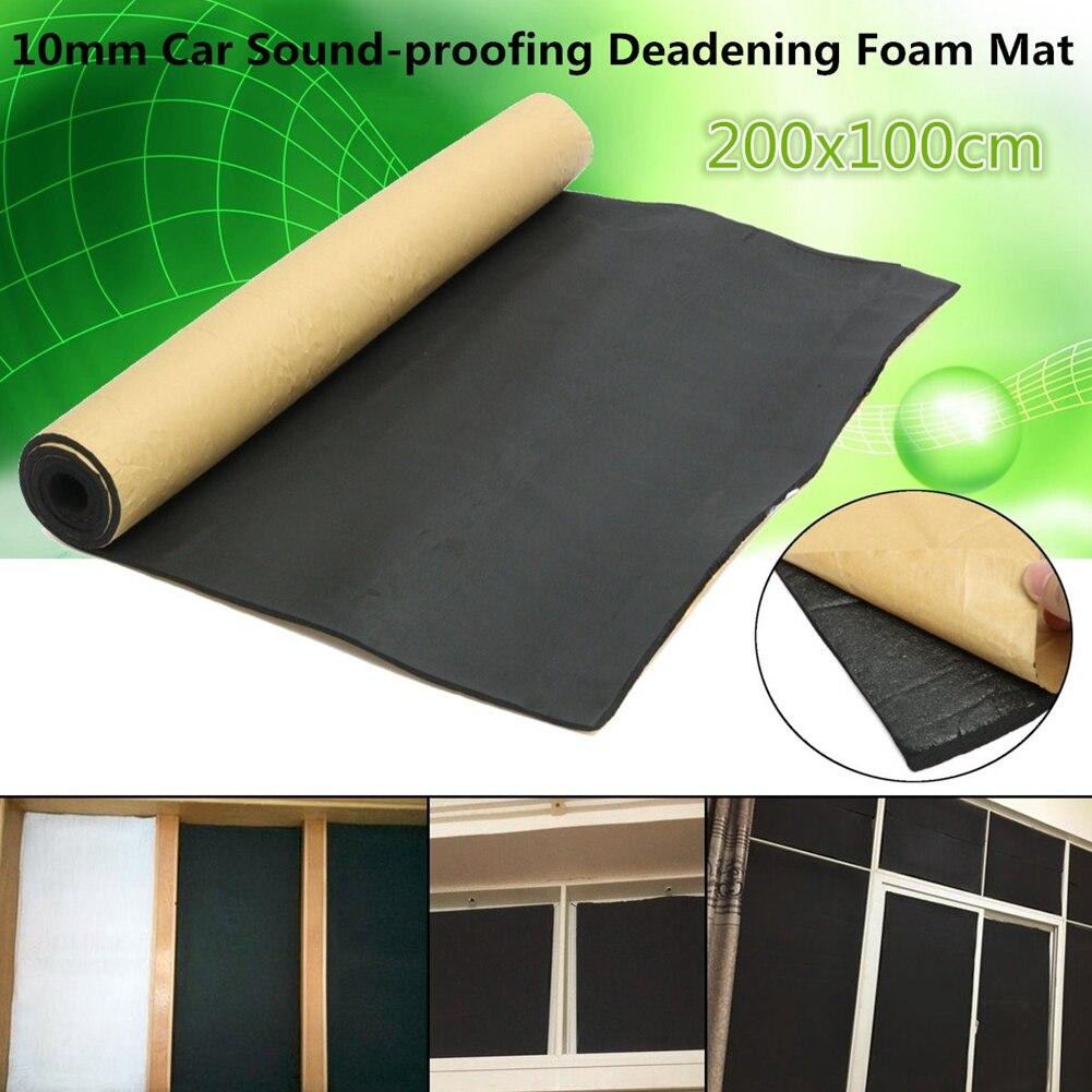 200x100 cm cubierta de coche, motor de vehículo, cortafuegos, tapete térmico, Deadener, aislamiento acústico, Material de atenuación, etiqueta adhesiva de papel de aluminio