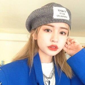 Winter Wmen Ins Soft Round Artist Beret Hip hop Sport Letter Pumpkin Hats Thick Warm Knit Beanies Skullies Gorras