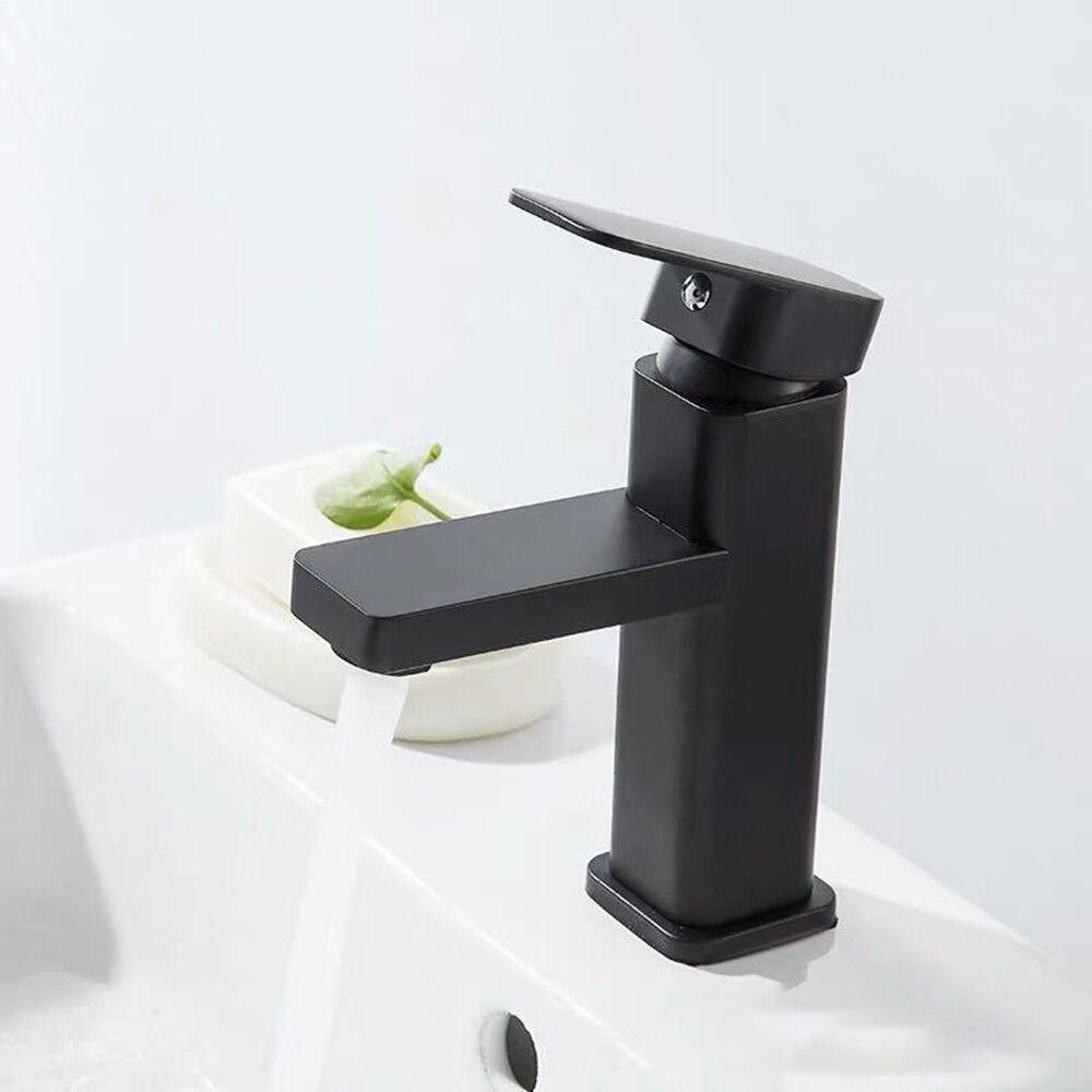 مجموعة حنفيات حوض الطلاء المربعة ، مجموعة حنفيات حوض الحمام ، خلاط بارد ساخن ، ثقب واحد ، أدوات المطبخ