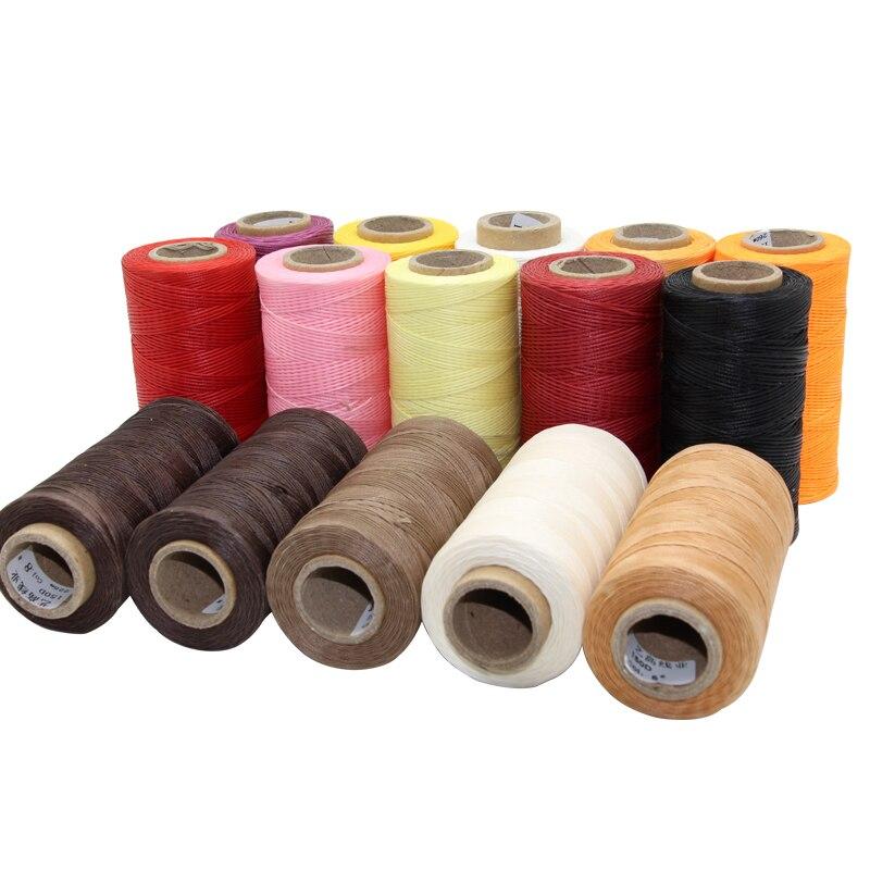 MIUSIE Durable 150D 250 metros Cordón de hilo encerado de cuero para DIY herramienta de artesanía hilo para coser a mano encerados lisos línea de costura