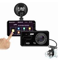 dash cam car dvr camera touch 4 inch full hd 1080p drive video recorder registrator auto dashboard dual dashcam black dvrs box