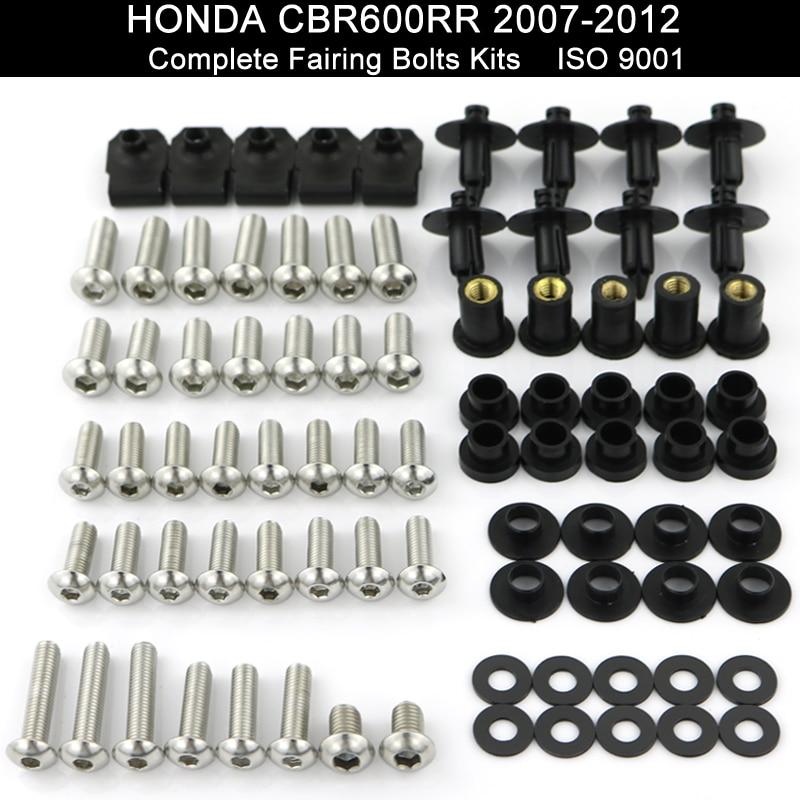 Для Honda CBR600RR CBR 600RR 2007 2008 2009 2010 2011 2012 мотоцикл Полный Обтекатель Болты Комплект шурупы обтекатель зажимов