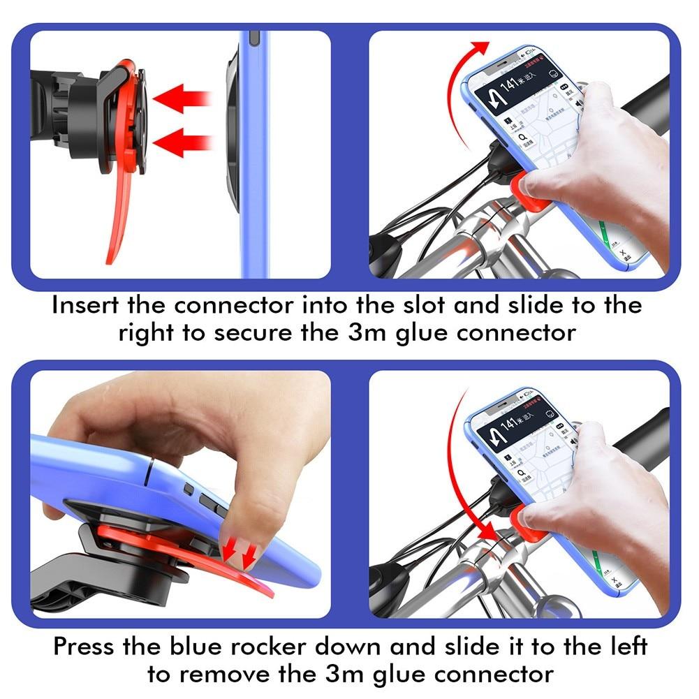 Clip Bike Phone Bracket Electric Rotatable For IPhone Handlebar Holder