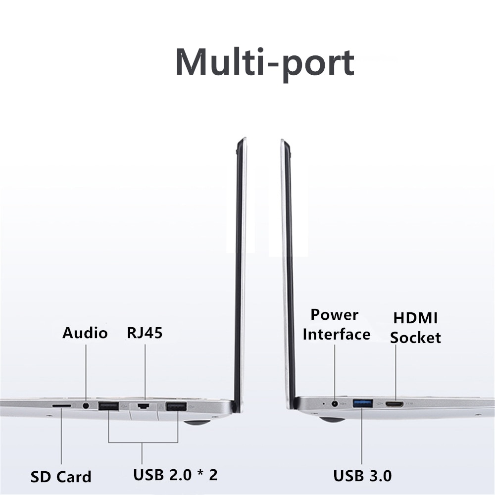 15.6 inch Student Laptop 1920x1080 Notebook 8GB RAM 128GB 256G 512G 1T ROM Laptops Windows 10 Intel Celeron J3455 Wifi Computer