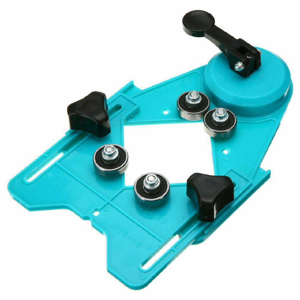 Posicionador de apertura de guía de máquina de sierra de agujero de vidrio de azulejo de cerámica ajustable 4mm-83mm