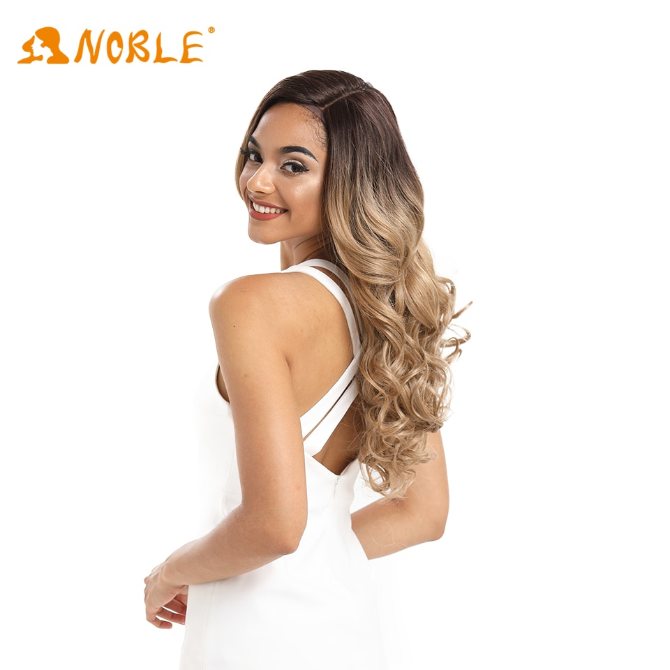 Noble girl Synthetic Lace Wig Pink Rainbow Blonde Orange Wig for Black Women 22inches 150% Density Natural Look Heat Resistant enlarge
