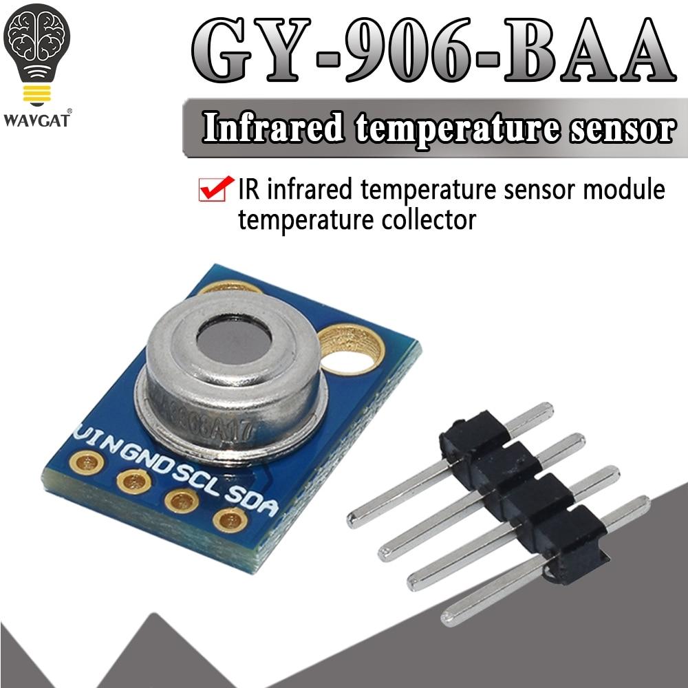 GY-906 mlx90614 mlx90614esf não-contato sensor de temperatura infravermelho módulo iic interface ir sensor compatível para arduino