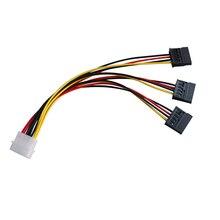 4Pin IDE Molex To 3 ATA SATA Power Splitter Extension Cable Connectors