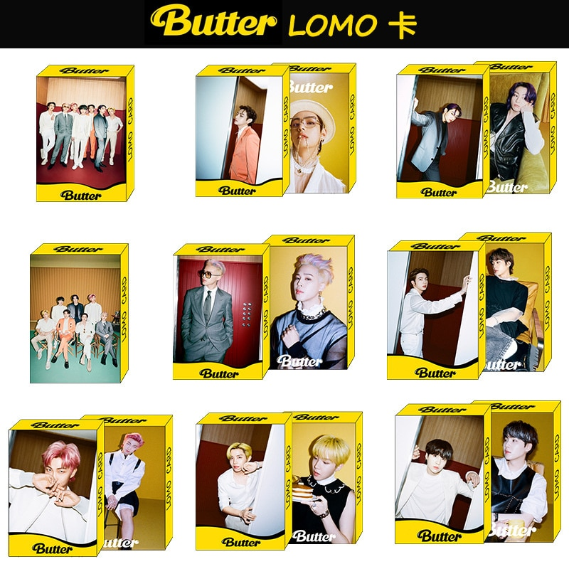 kpop bangtan boys new album butter peripheral small card lomo card postcard random card polaroid KPOP Bangtan Boys New Album New Butter Same Type Boxed LOMO Card Random Card Small Card Peripheral