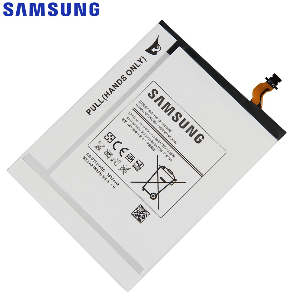 Original Replacement Battery For SAMSUNG T115 T116 SM-T110 SM-T111 EB-BT111ABC EB-BT111ABE EB-BT115ABC EB-BT115ABE 3600mAh enlarge