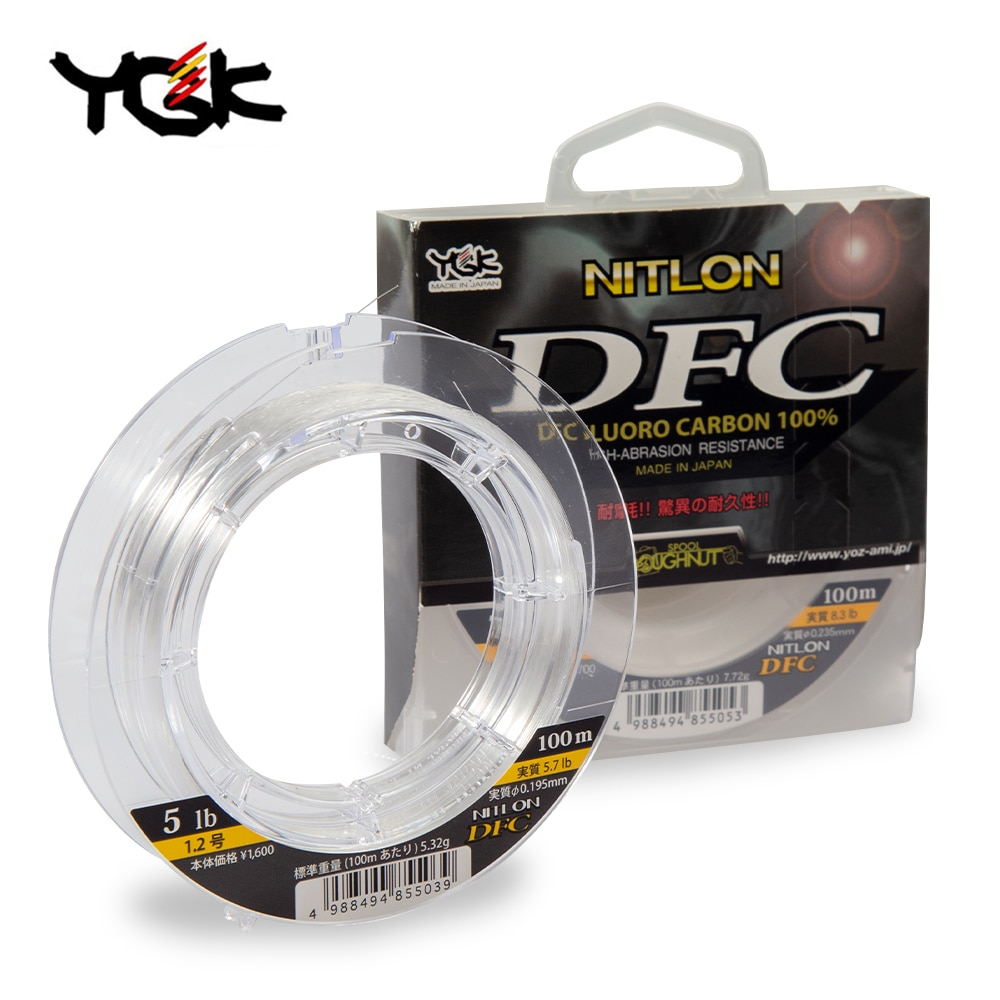 YGK Original DFC Carbon Line Line Occupation Fish Line Fishing Ship Fishing Front Wireway YGK Nitlon DFC Fluorocarbon Leader