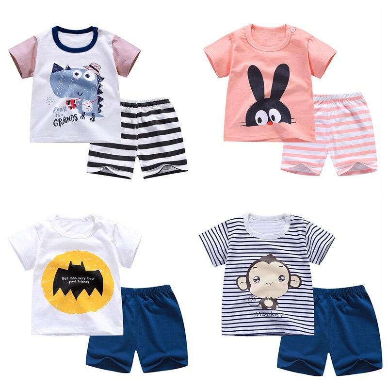 6 m-4 t ropa para bebés recién nacidos ropa de verano para niñas camiseta + pantalón traje para niños traje ropa infantil trajes para bebés